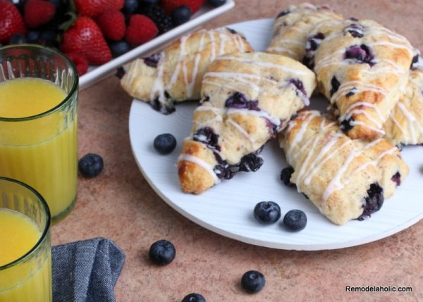 Blueberry Scones Recipe, From Remodelaholic