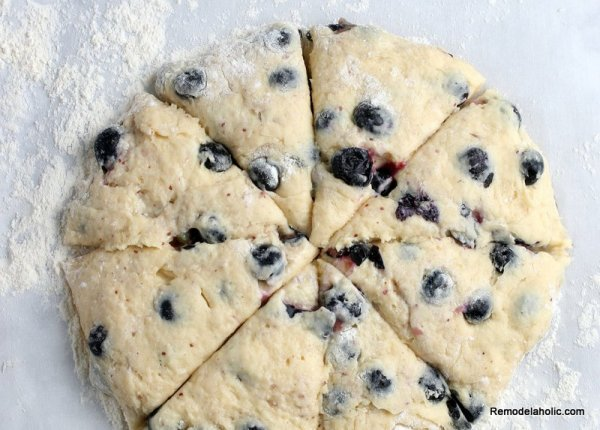 How To Make Blueberry Scones, From Remodelaholic