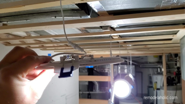 Thin Recessed Ceiling Lights For A Low Ceiling Basement Renovation With Shallow Clearance Framing #remodelaholic 01