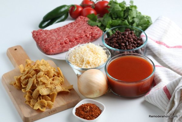 Ingredients for Frito Pie Recipe, from Remodelaholic