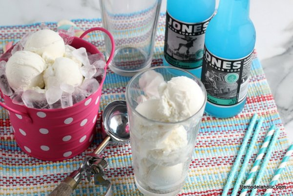 Colorful Ice Cream Floats Kids Part Idea From Remodelaholic