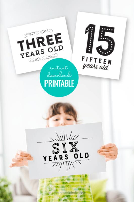 Instant Download Printable Milestone Birthday Sign Set For Photos Remodelaholic