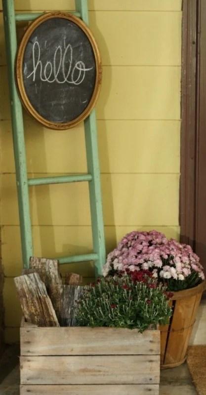Blanket Ladder Porch Decor, Primitive And Proper