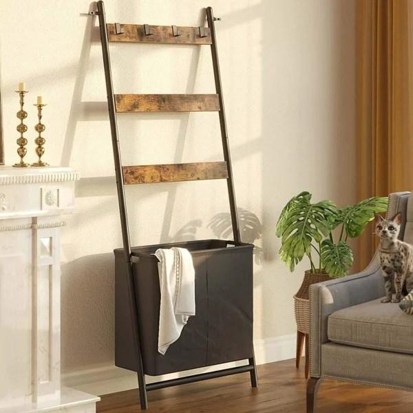 Blanket Ladder With Basket Hamper Hooks, Amazon