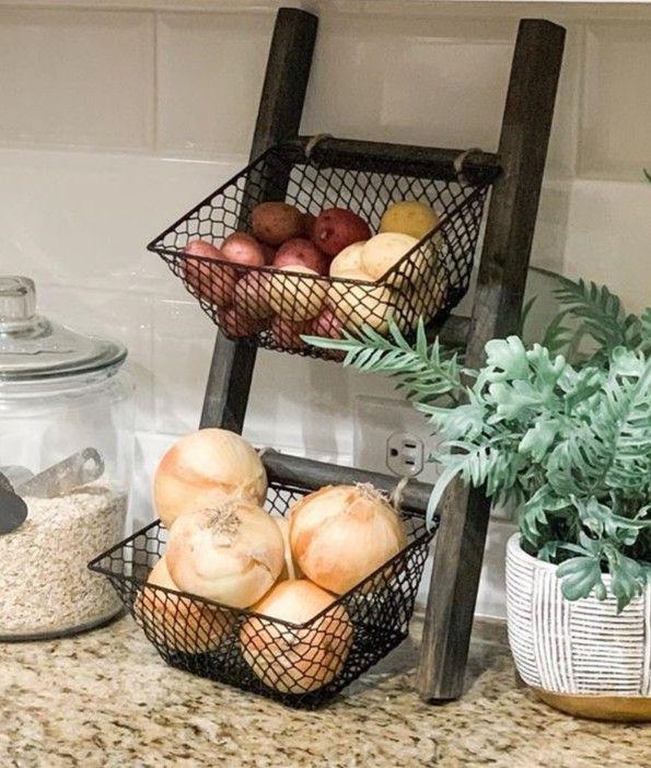 Countertop Storage Ladder Fruit Basket, Via Pinterest
