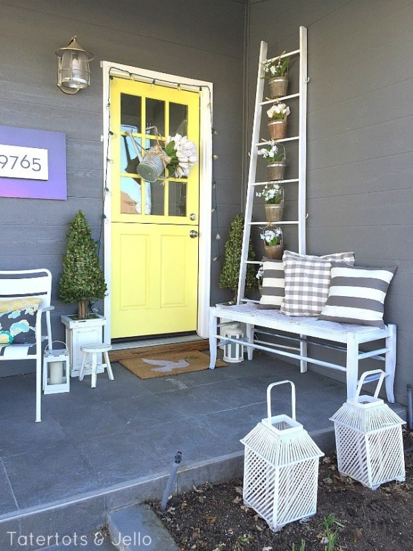 Porch Ladder With Flower Pot Buckets, Tatertots And Jello