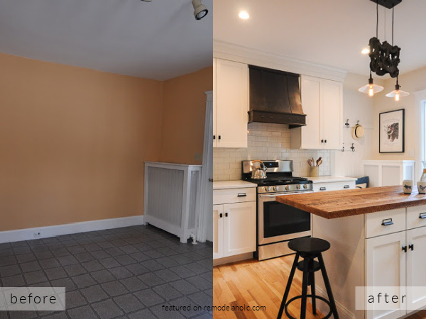 White Modern Farmhouse Kitchen Remodel Ideas Before And After Pictures, SoPo Cottage On Remodelaholic