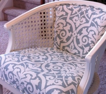 Cane Chair Reupholster DIY