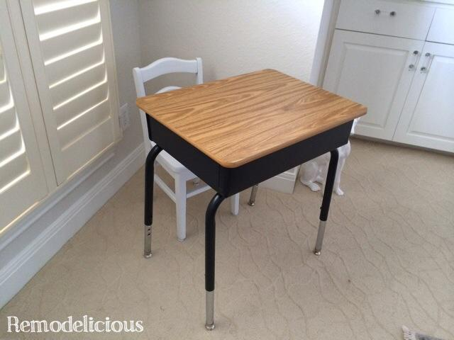 $5 Kids School Desk DIY Transformation