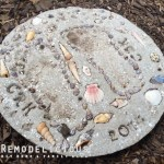 Beach + Shell Themed DIY Stepping Stone Craft