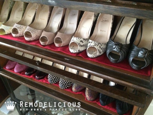 IMG_3456.JPGLawyer's Bookcase as Shoe Display & Storage | Remodelicious.com