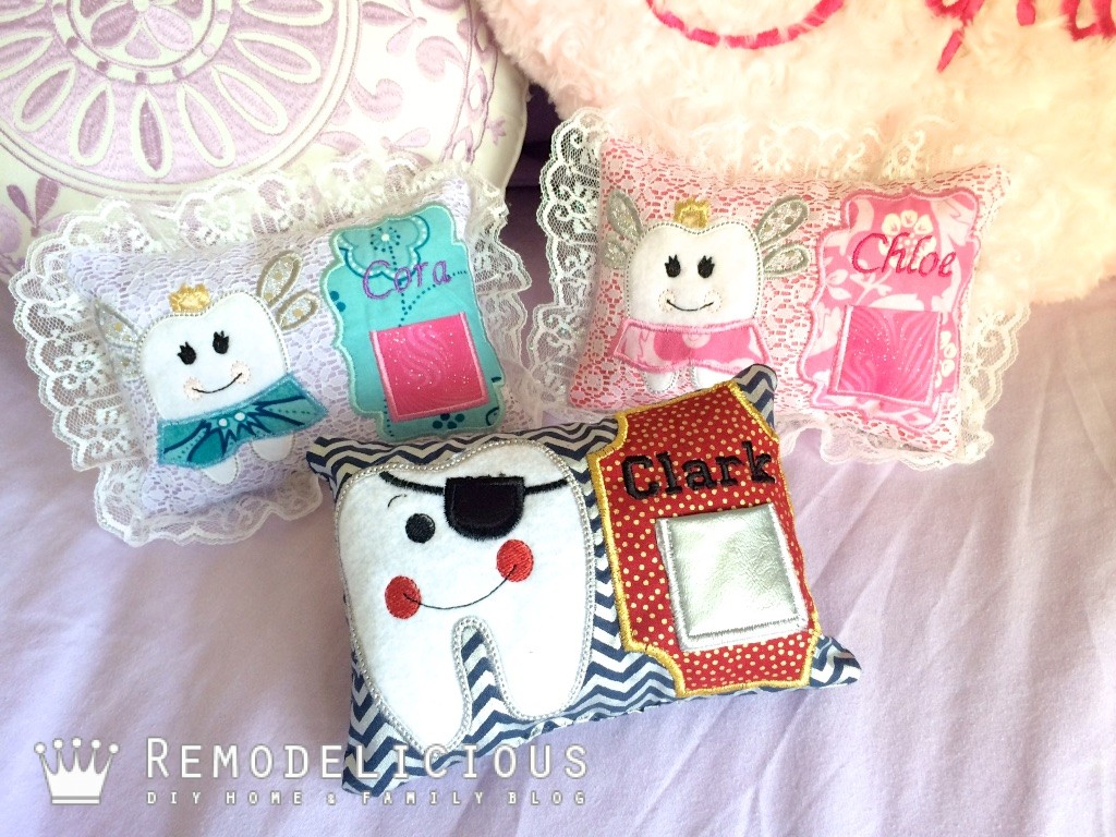 Inthehoop Diy Embroidered Tooth Fairy Pillows