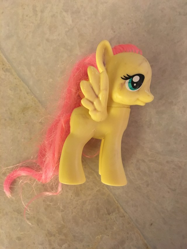 How to remove pen stains from a My Little Pony or other plastic toys (works with Sharpie, too!).