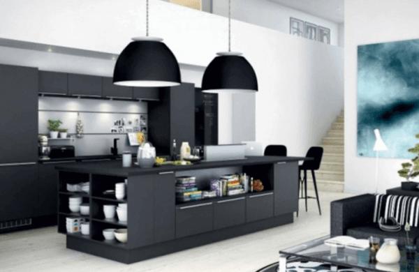 Black Kitchen Island With Storage