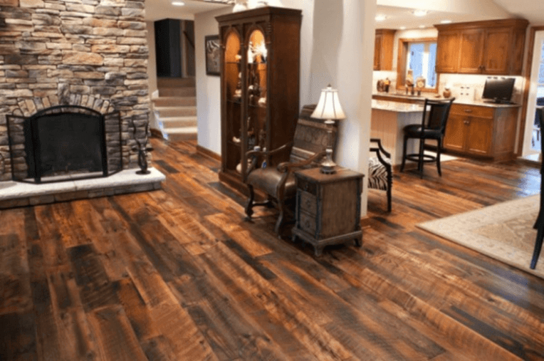 15 Reclaimed Wood Flooring Ideas For Every Room Reclaimed antique oak flooring in a living room