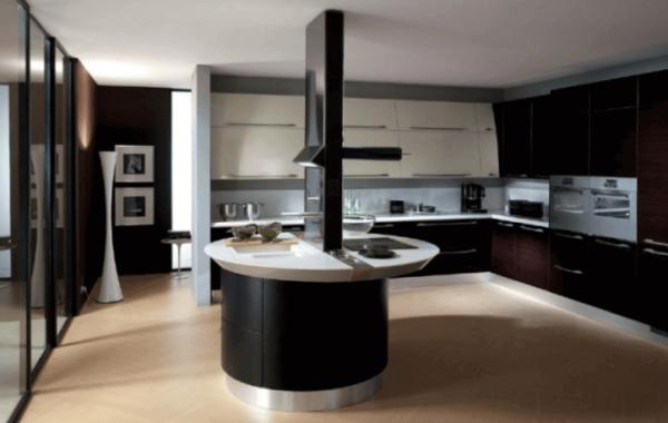Black and White, Small Kitchen Island