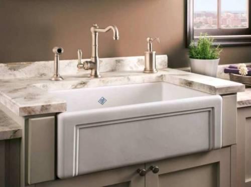 White Porcelain Kitchen Sink