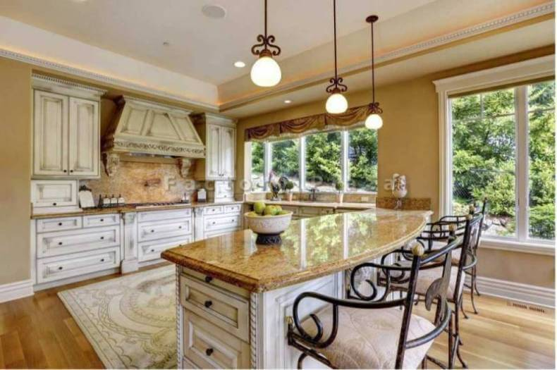 Granite Countertops in a Luxury Tuscan Style Kitchen ...