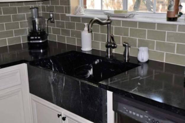 Soapstone Black Kitchen Sink