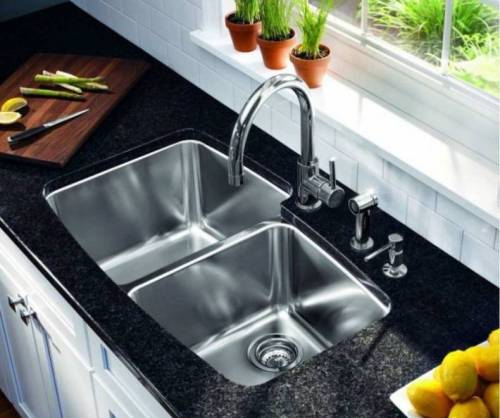 Undermount, Double bowl, Stainless Steel Sink