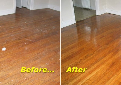Before And After Floor Refinishing