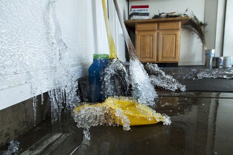 Burst Water Pipe In a Foreclosure