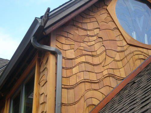 Wood Siding House