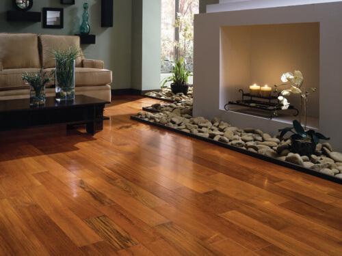 Finished hardwood flooring