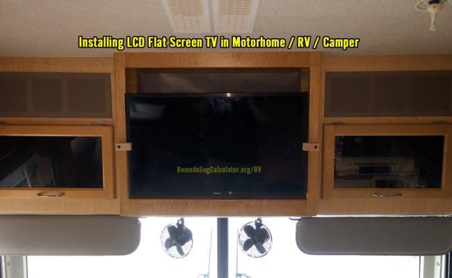 Flat Screen TV in Motorhome / RV / Camper