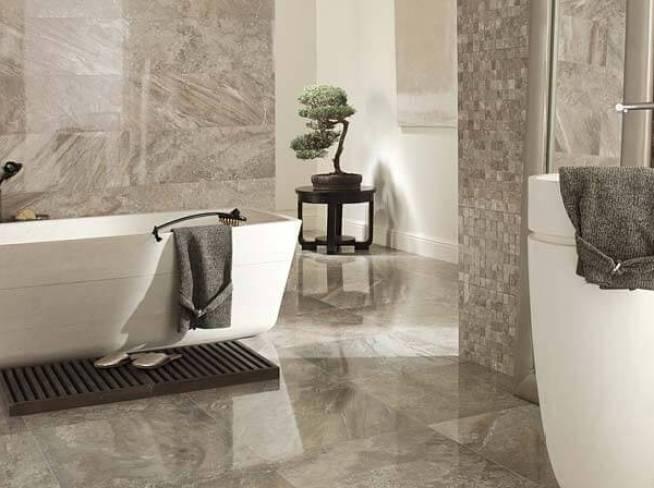 Ceramic Tile Installation Cost In A Modern Bathroom
