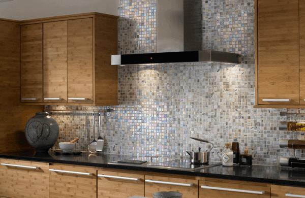 Mosaic Backsplash Tile in the Kitchen