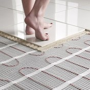 heated tile floor cost