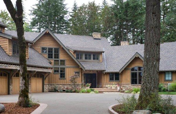 Rustic Cedar Siding On A Cabin Style house
