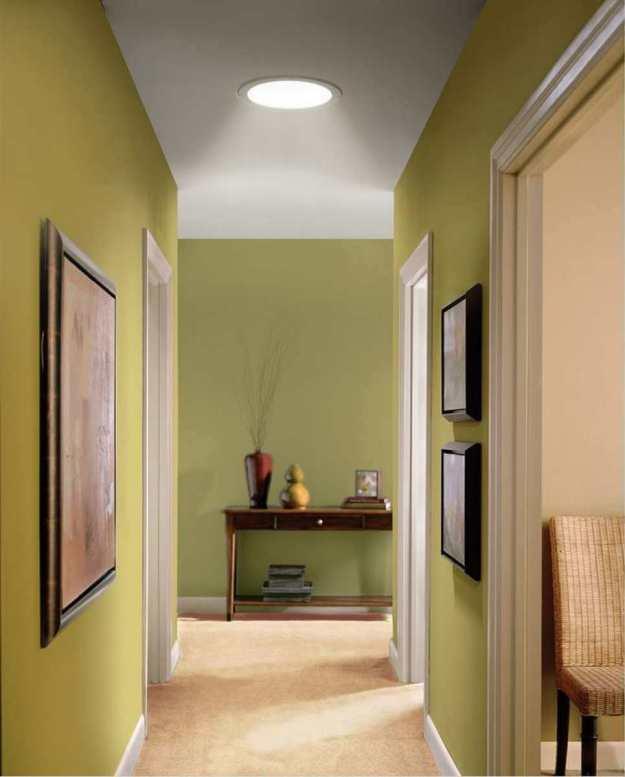 Solar Tunnel Skylight in a Hallway