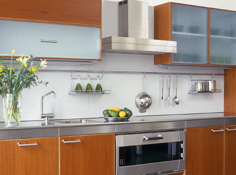 Wall mount stainless steel hood