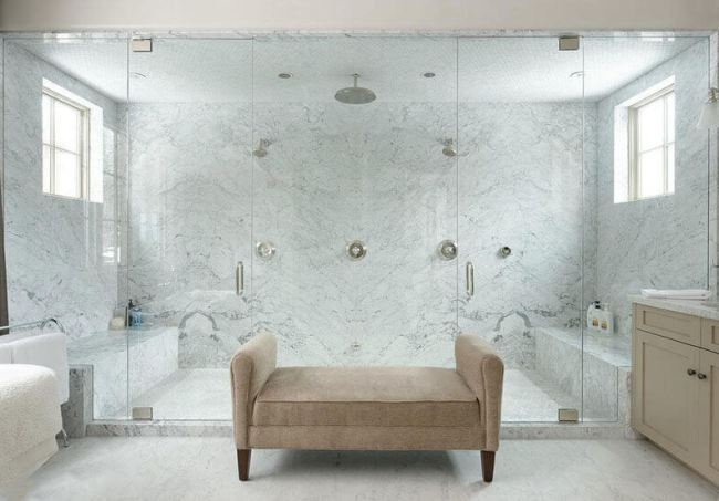 cost of large walk-in shower in a master bathroom