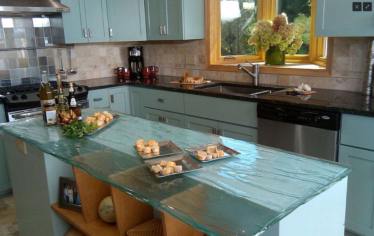 Itu0027s An Excellent Option For Those Looking For An Environmentally Friendly  Alternative. Glass Countertop. Glass Countertop
