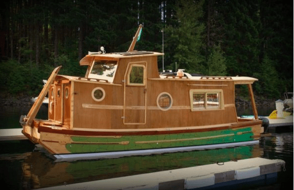 the-water-woody-houseboat