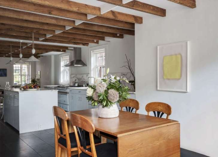 Annabelle Selldorf Brooklyn Kitchen Renovation Danish Dining Table