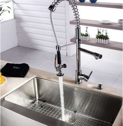 https www remodelista com products kraus commercial pre rinse chrome kitchen faucet
