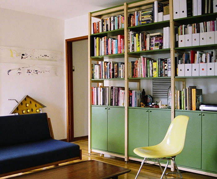 HighLow Wooden Bookcase With Cabinets Remodelista