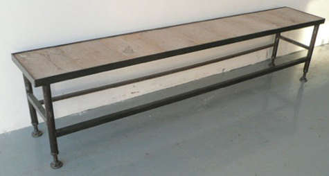 long low industrial table