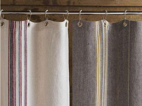 bath rustic linen shower curtain from