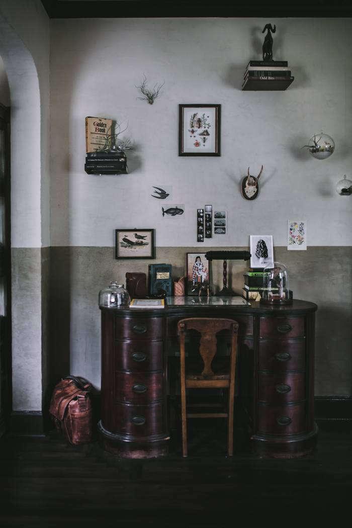 Eva Kosmas Flores Living Room Remodel Desk