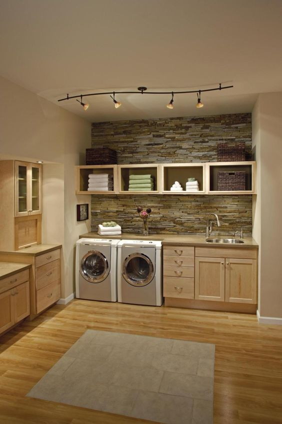 27 Stylish Basement Laundry Room Ideas for Your House ... on Laundry Room Cabinet Ideas  id=42295