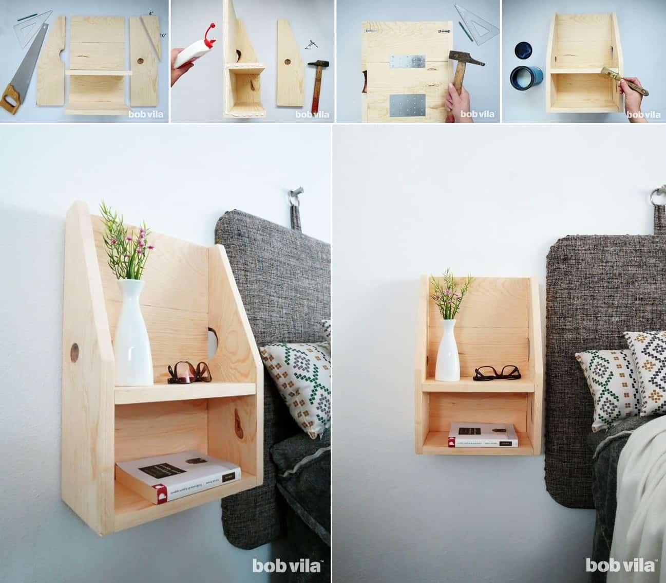 Nightstand Ideas Perfect For A Small Bedroom Remodel Or Move