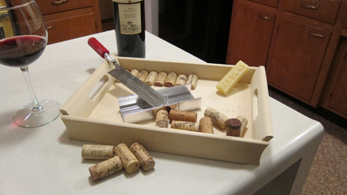 How To Make A Wine Cork Tray Remodern Ranch