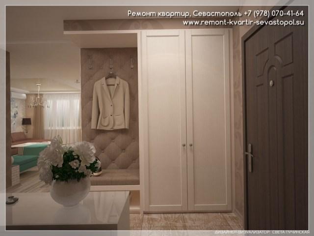 Дизайн интерьера однокомнатной квартиры