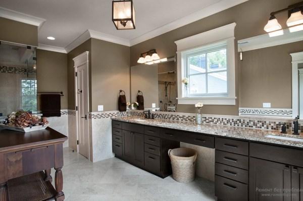 Интерьер и дизайн коричневой ванной оформляем комнату в