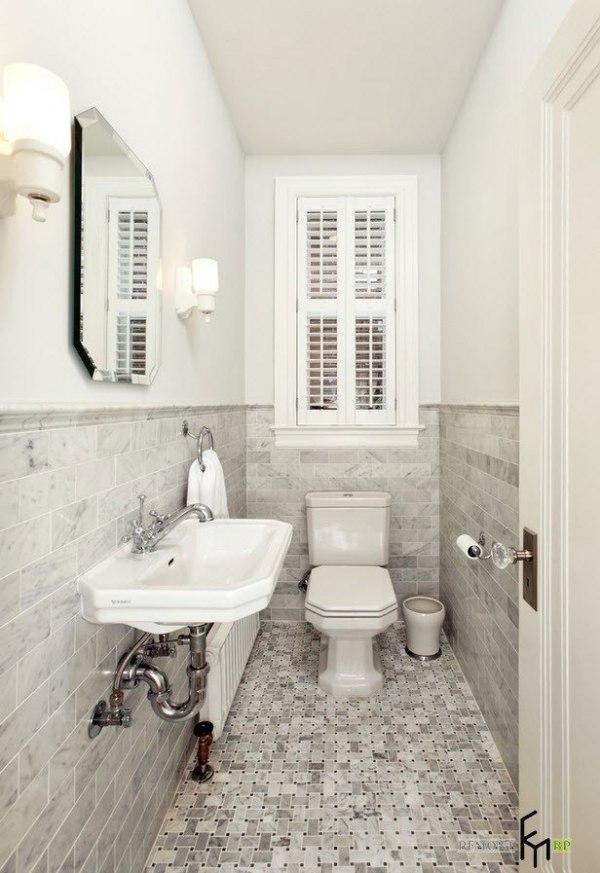 50 идей: плитка для маленького туалета (санузла) на фото